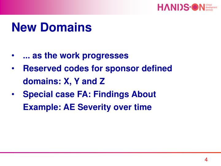 New Domains