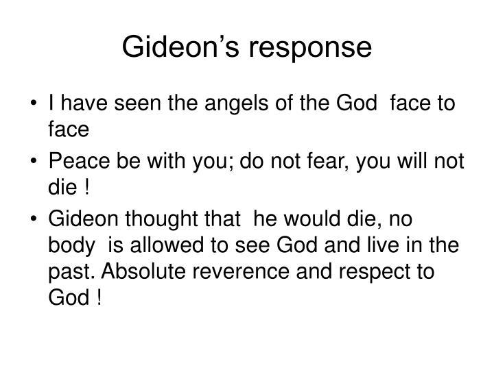 Gideon's response