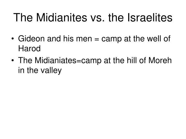 The Midianites vs. the Israelites