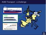 a380 transport a challenge