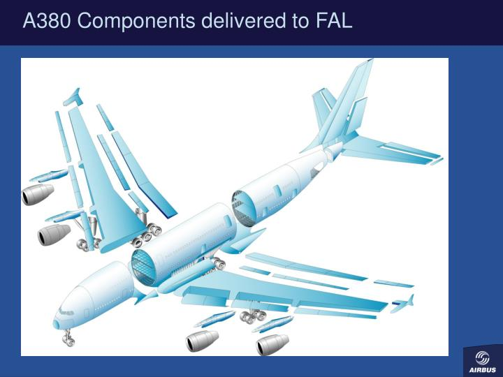 A380 Components delivered to FAL