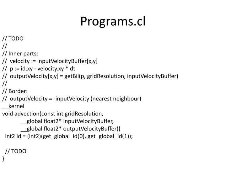 Programs.cl