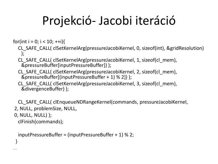 Projekció- Jacobi iteráció