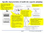 specific characteristics of multi site capacity planning