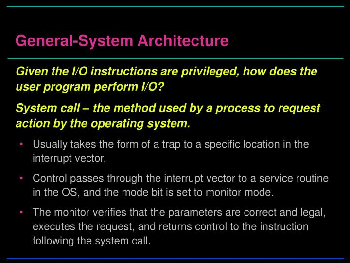 General-System Architecture