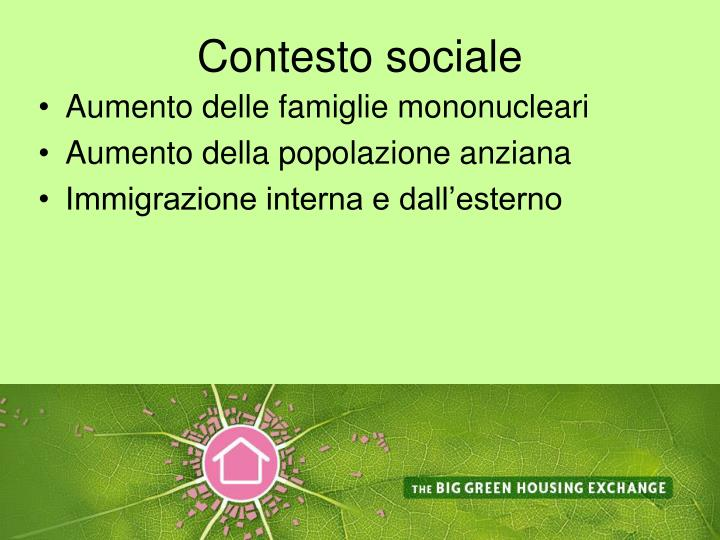 Contesto sociale
