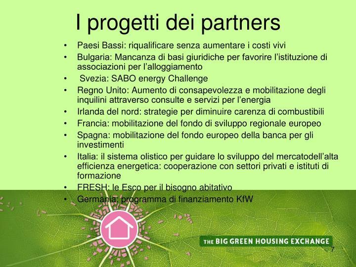 I progetti dei partners