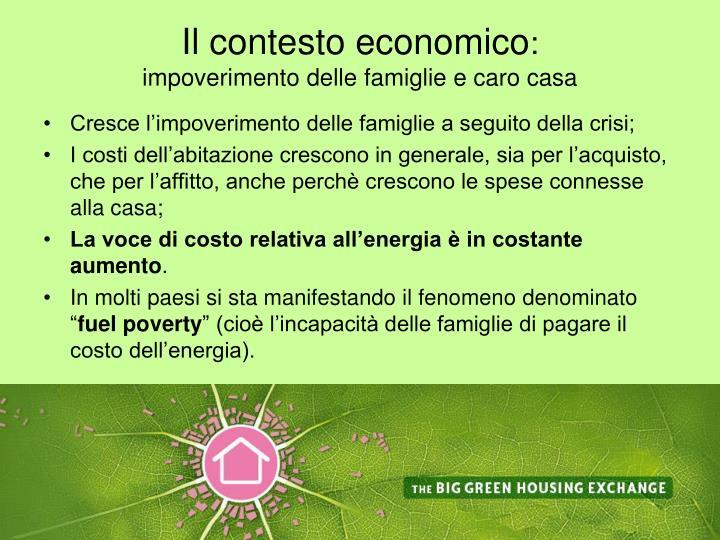 Il contesto economico