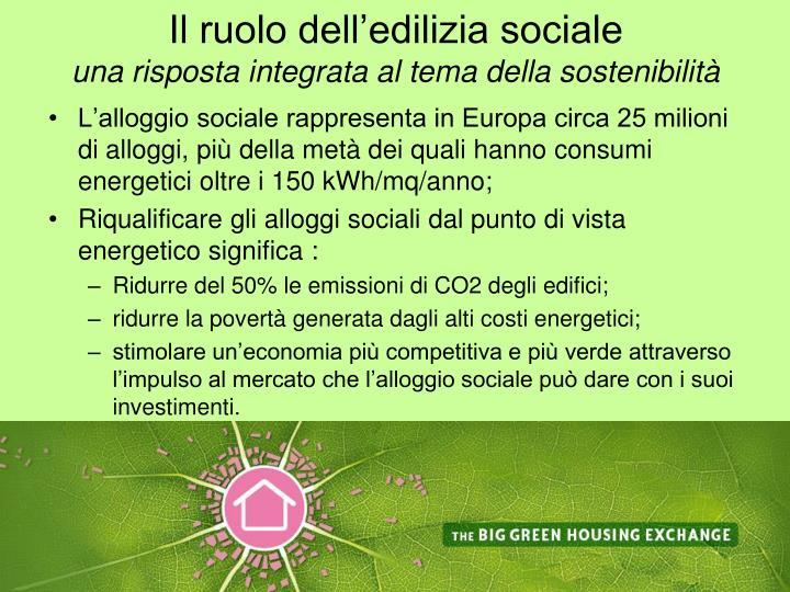Il ruolo dell'edilizia sociale