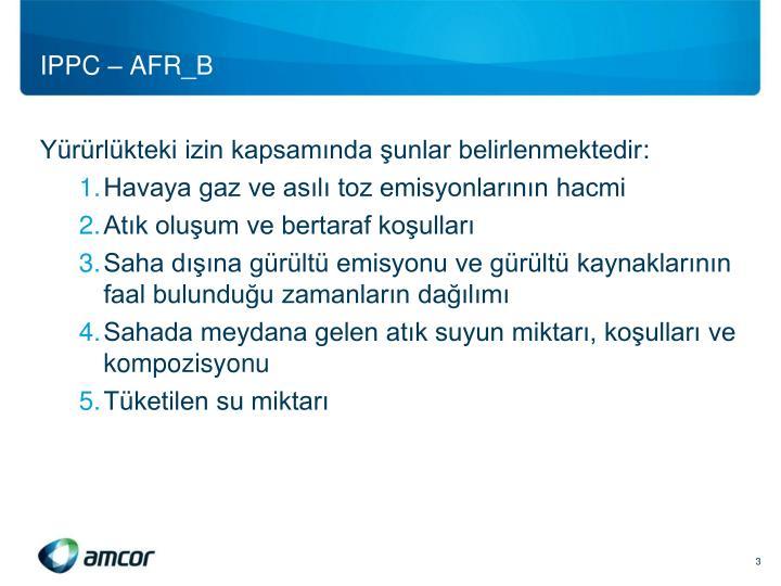IPPC – AFR_B