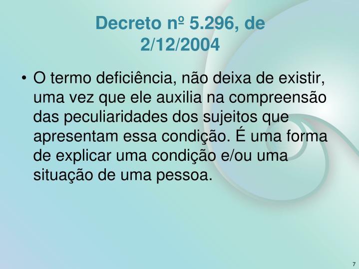 Decreto nº 5.296, de