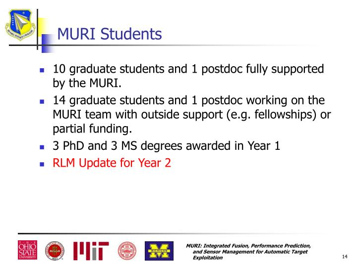 MURI Students