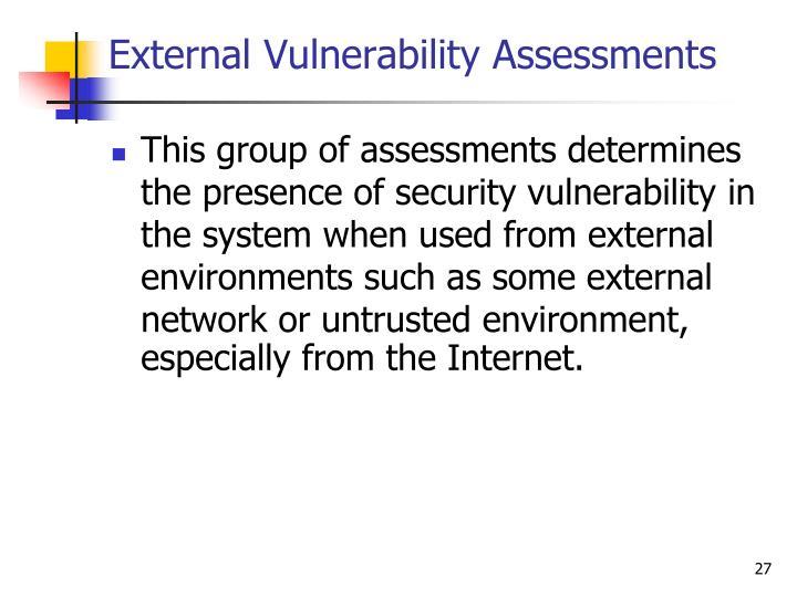 External Vulnerability Assessments