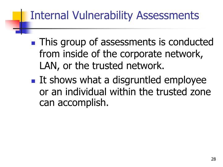 Internal Vulnerability Assessments
