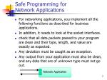 safe programming for network applications