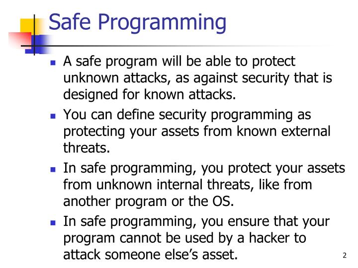 Safe Programming
