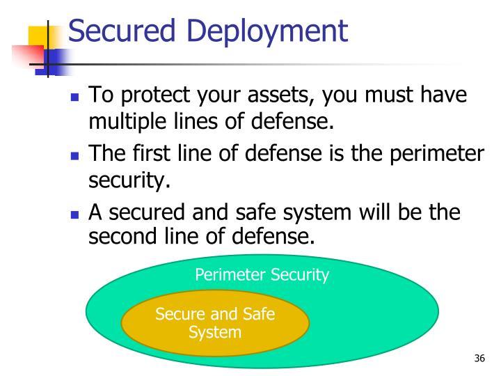 Secured Deployment