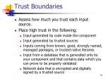 trust boundaries