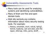vulnerability assessments tools
