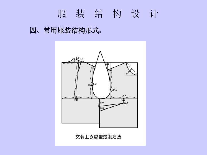 服 装 结 构 设 计