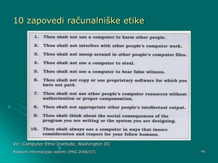 10 zapovedi računalniške etike