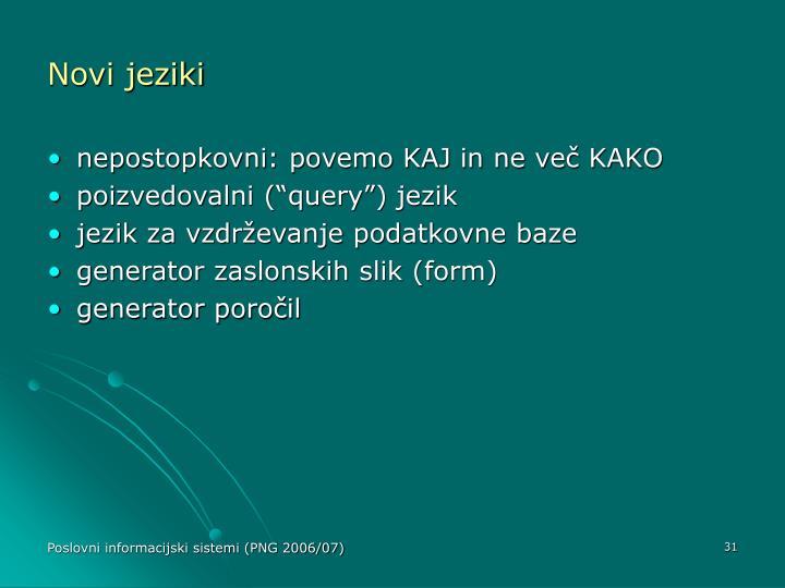 Novi jeziki