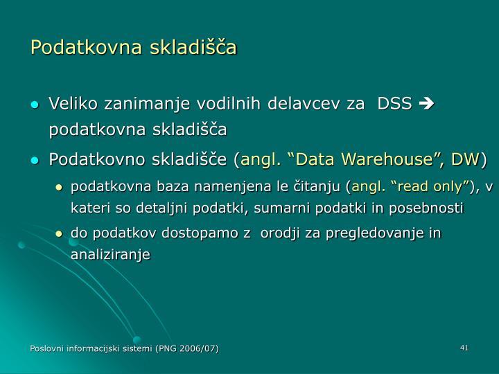 Podatkovna skladišča