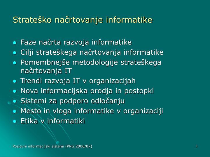 Strateško načrtovanje informatike