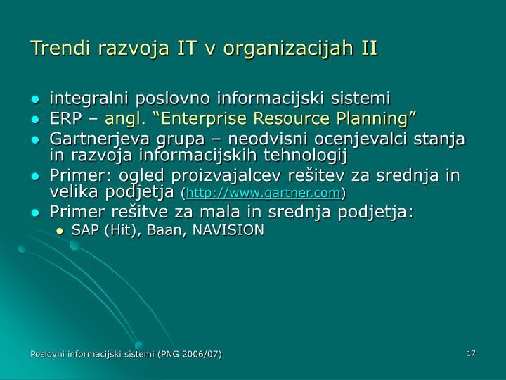 Trendi razvoja IT v organizacijah II