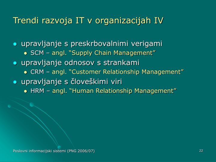Trendi razvoja IT v organizacijah IV