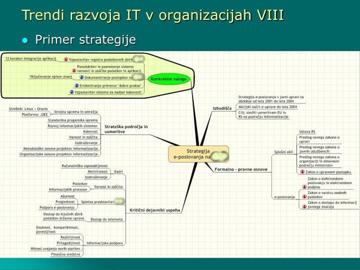 Trendi razvoja IT v organizacijah VIII