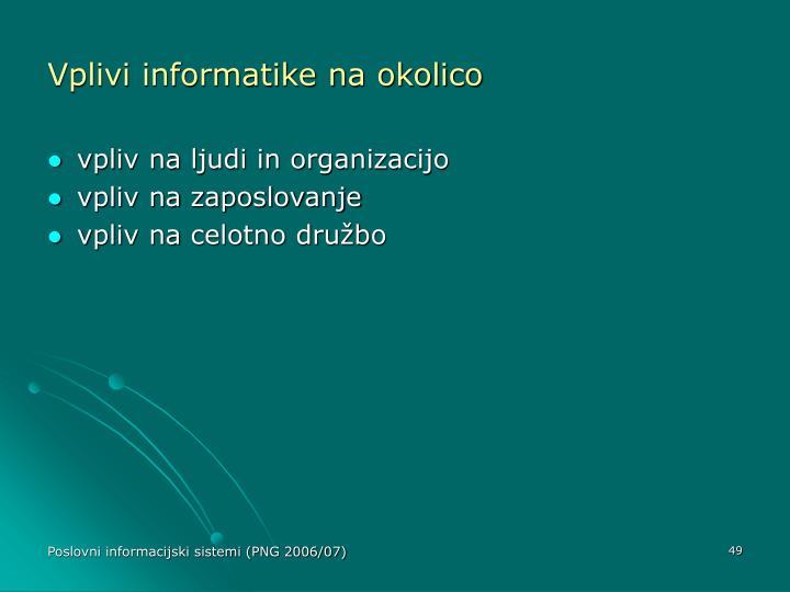 Vplivi informatike na okolico
