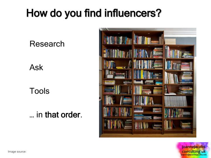 How do you find influencers?