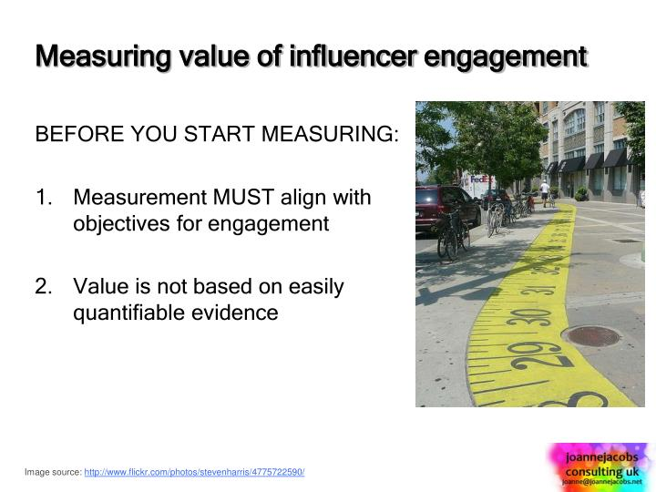 Measuring value of influencer engagement
