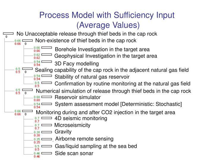 Process Model with Sufficiency Input