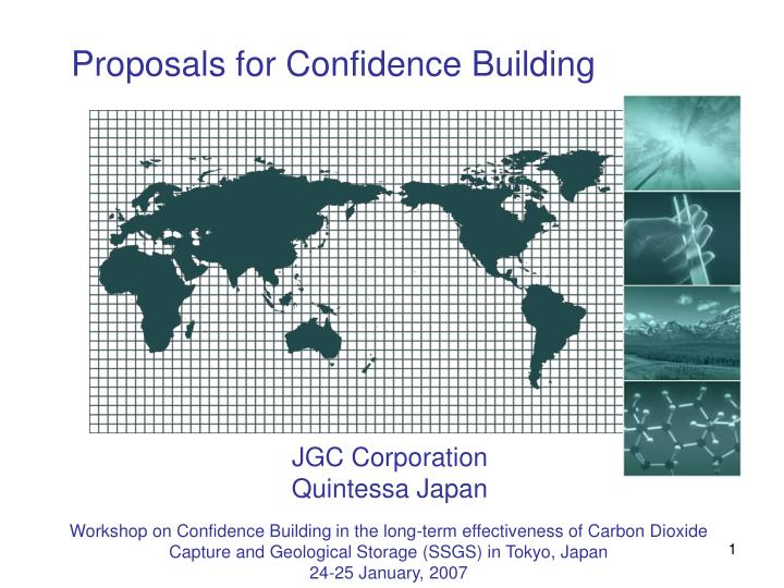 Proposals for Confidence Building