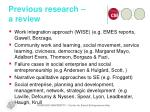previous research a review