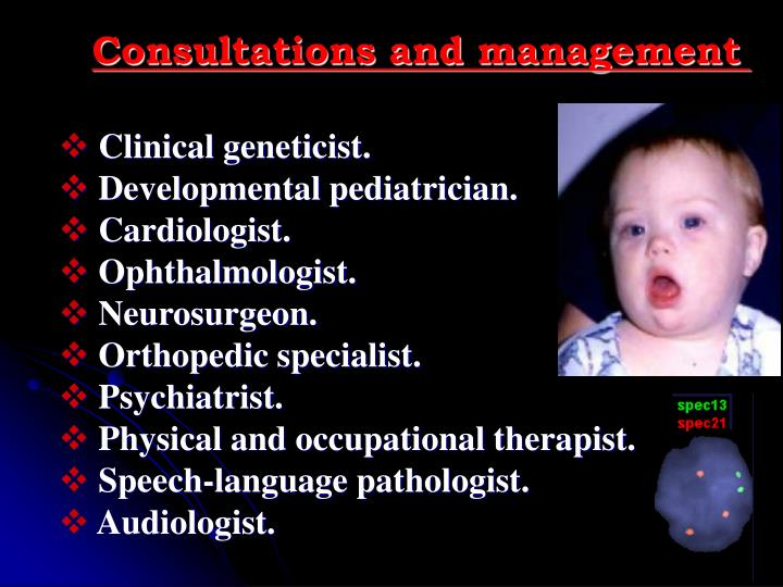 Consultations and management