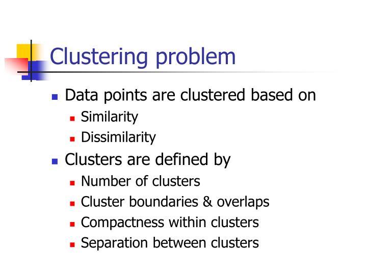 Clustering problem