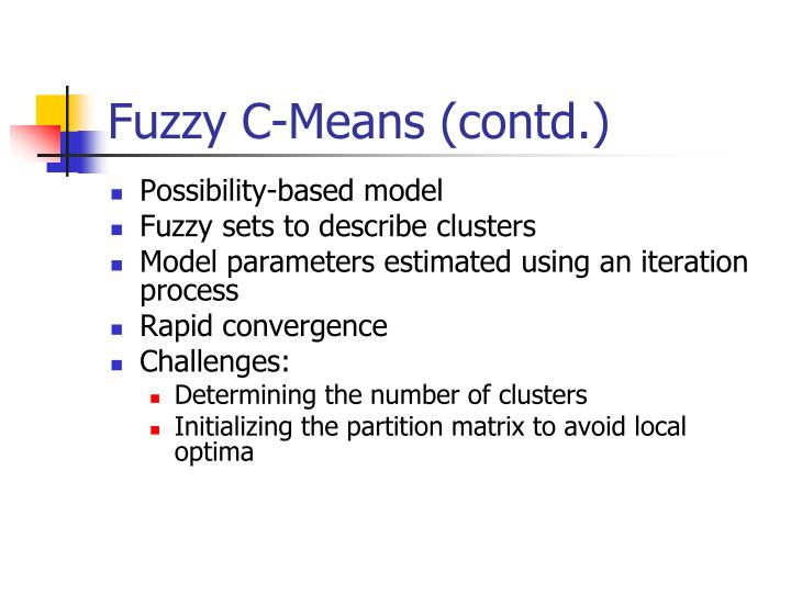 Fuzzy C-Means (contd.)