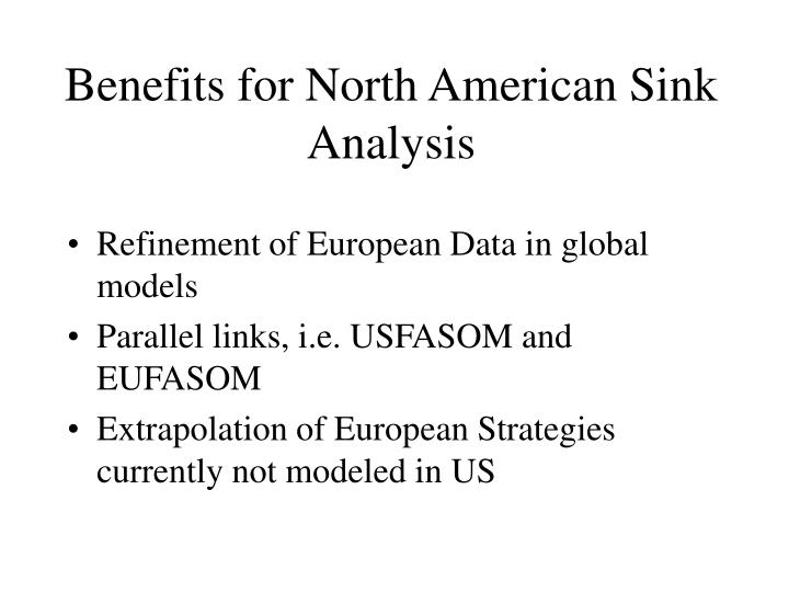 Benefits for North American Sink Analysis