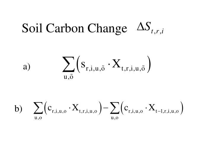 Soil Carbon Change