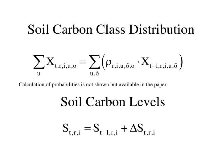Soil Carbon Class Distribution