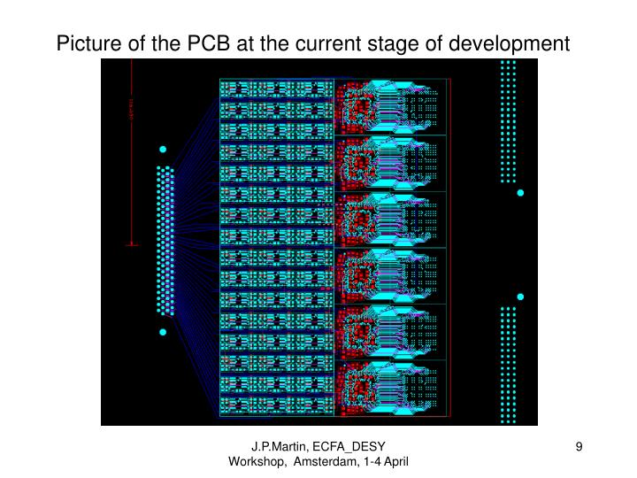 Picture of the PCB at the current stage of development