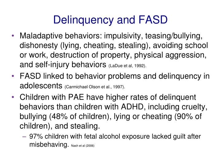 Delinquency and FASD