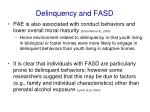 delinquency and fasd1