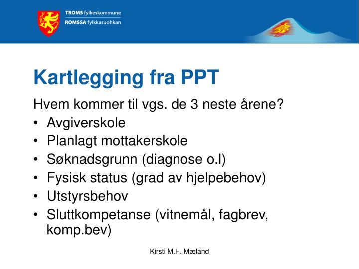 Kartlegging fra PPT