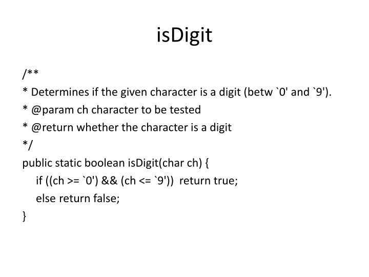 isDigit