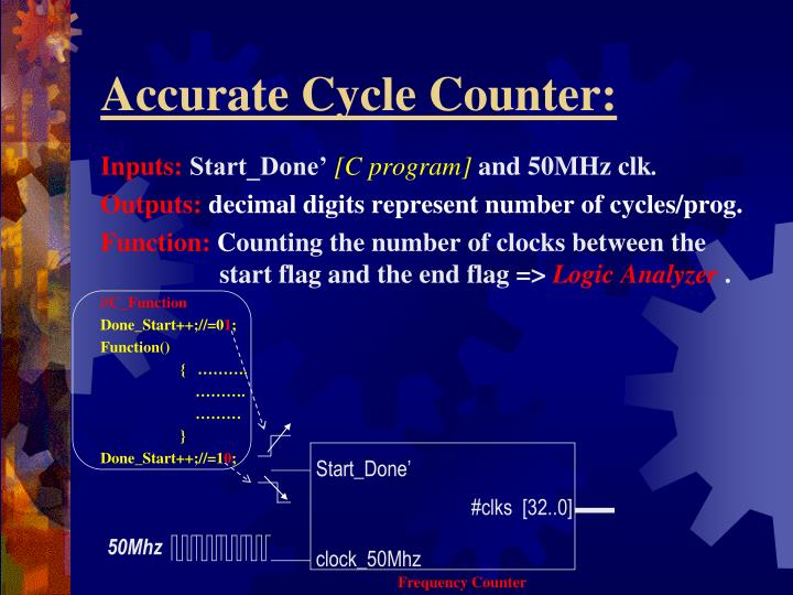 Accurate Cycle Counter: