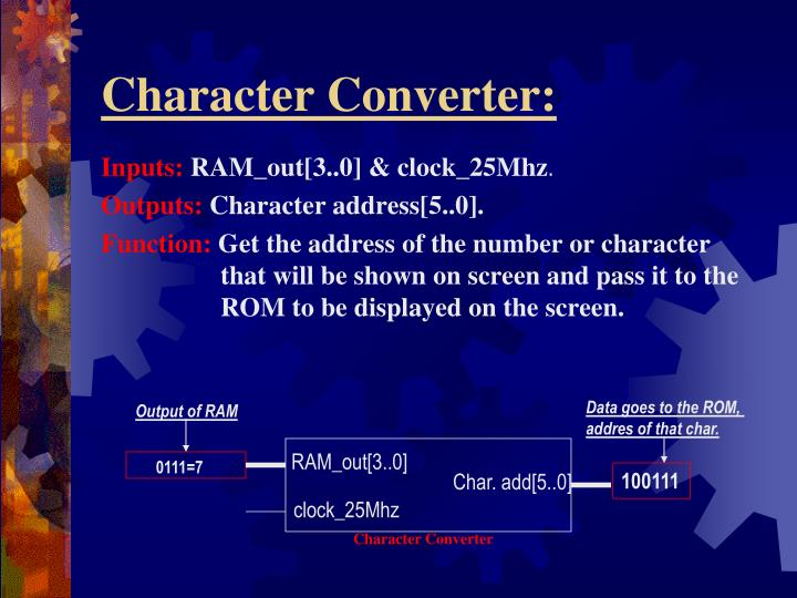 Character Converter: